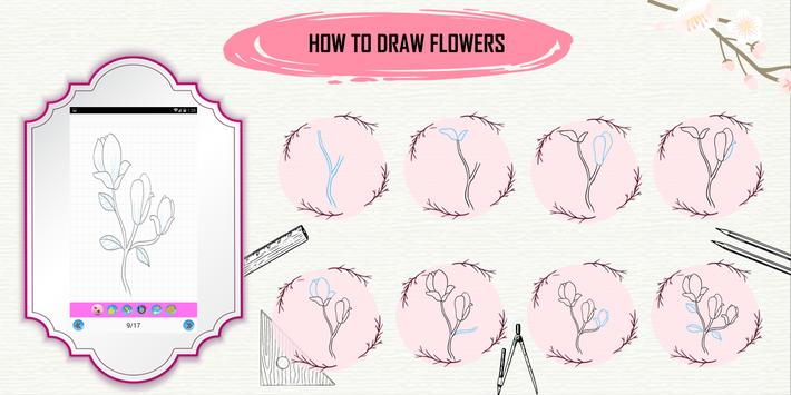 Learn How to Draw Flowers Step by Step screenshot 5