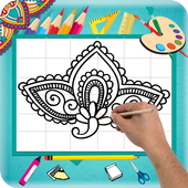 Learn How to Draw Henna Designs Step by Step icon