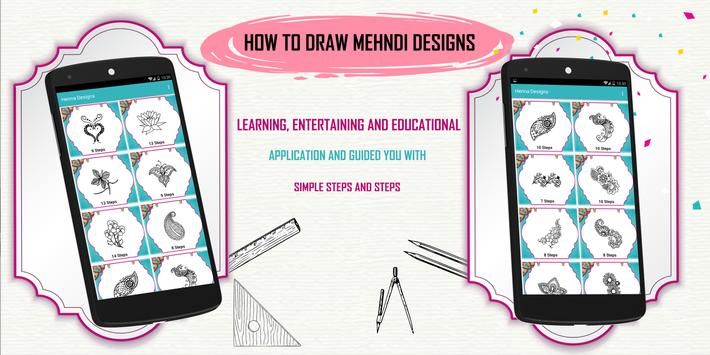 Learn How to Draw Henna Designs Step by Step poster