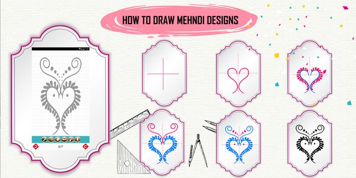 Learn How to Draw Henna Designs Step by Step screenshot 1