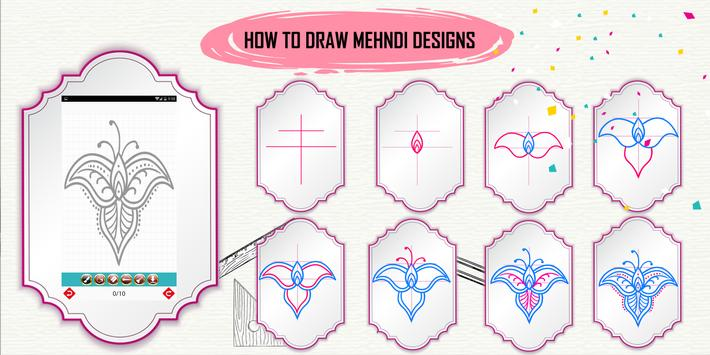 Learn How to Draw Henna Designs Step by Step screenshot 2