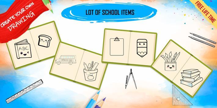 How to draw kawaii school items step by step screenshot 7