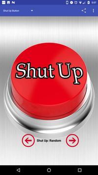 Shut Up Button poster
