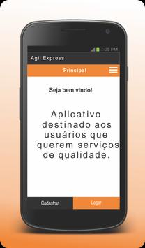 Agil Express - Cliente poster