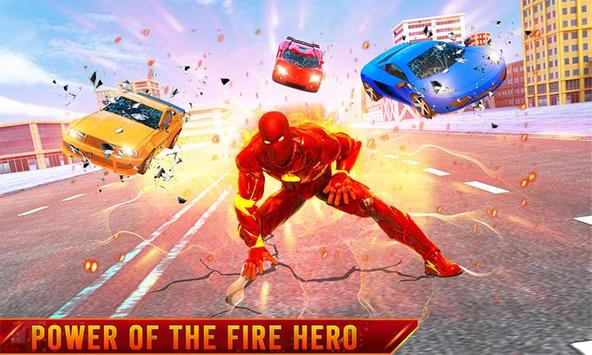 Flying Fire Hero Transform Robot Games poster