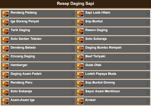 Resep Daging Sapi screenshot 1