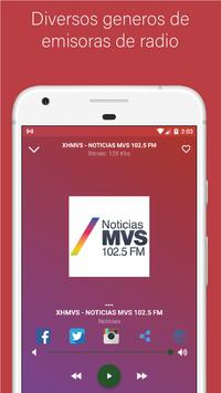 Radio Mexico - Live stations for free screenshot 5