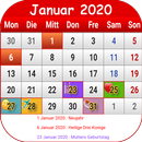 Deutsch Kalender 2020 APK Android