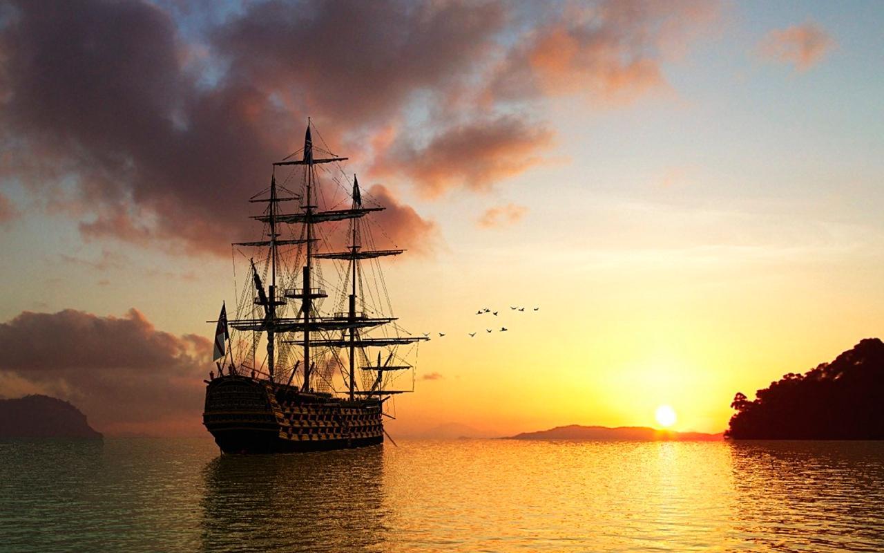 пусть море корабли закаты картинки общем, ему