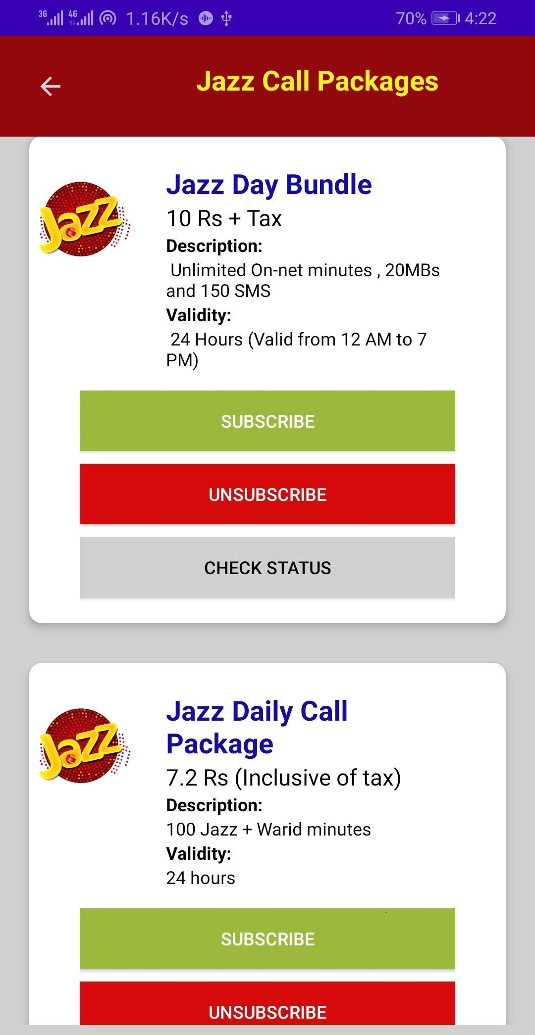 All Network Packages 2020 Call Sms Internet For Android Apk Download