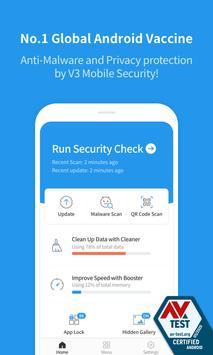 V3 Mobile Security - AntiMalware/Booster/Apps Lock poster