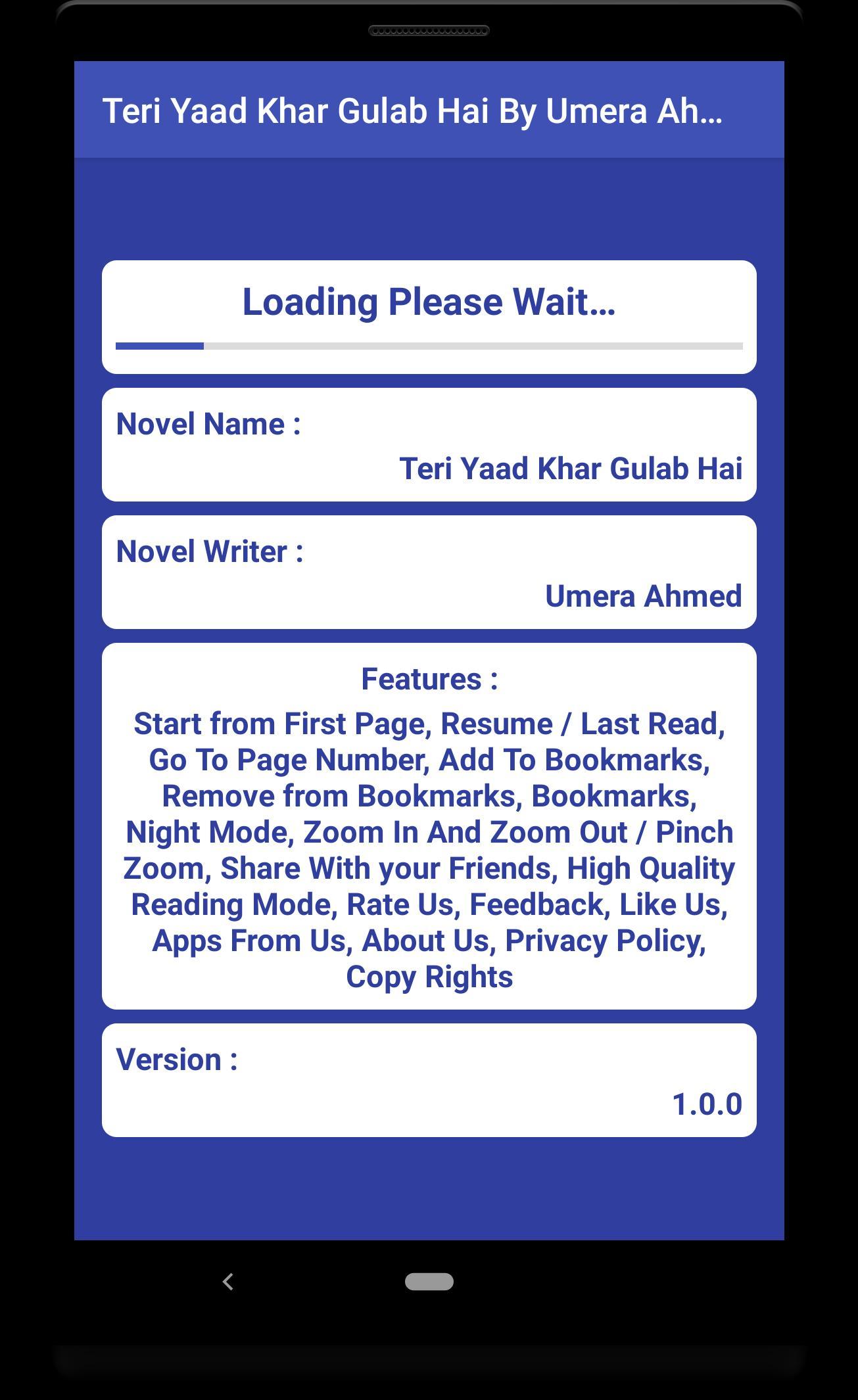 Teri Yaad Khar Gulab Hai By Umera Ahmed Urdu Novel poster