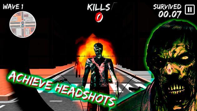 Juego de francotirador zombies captura de pantalla 1