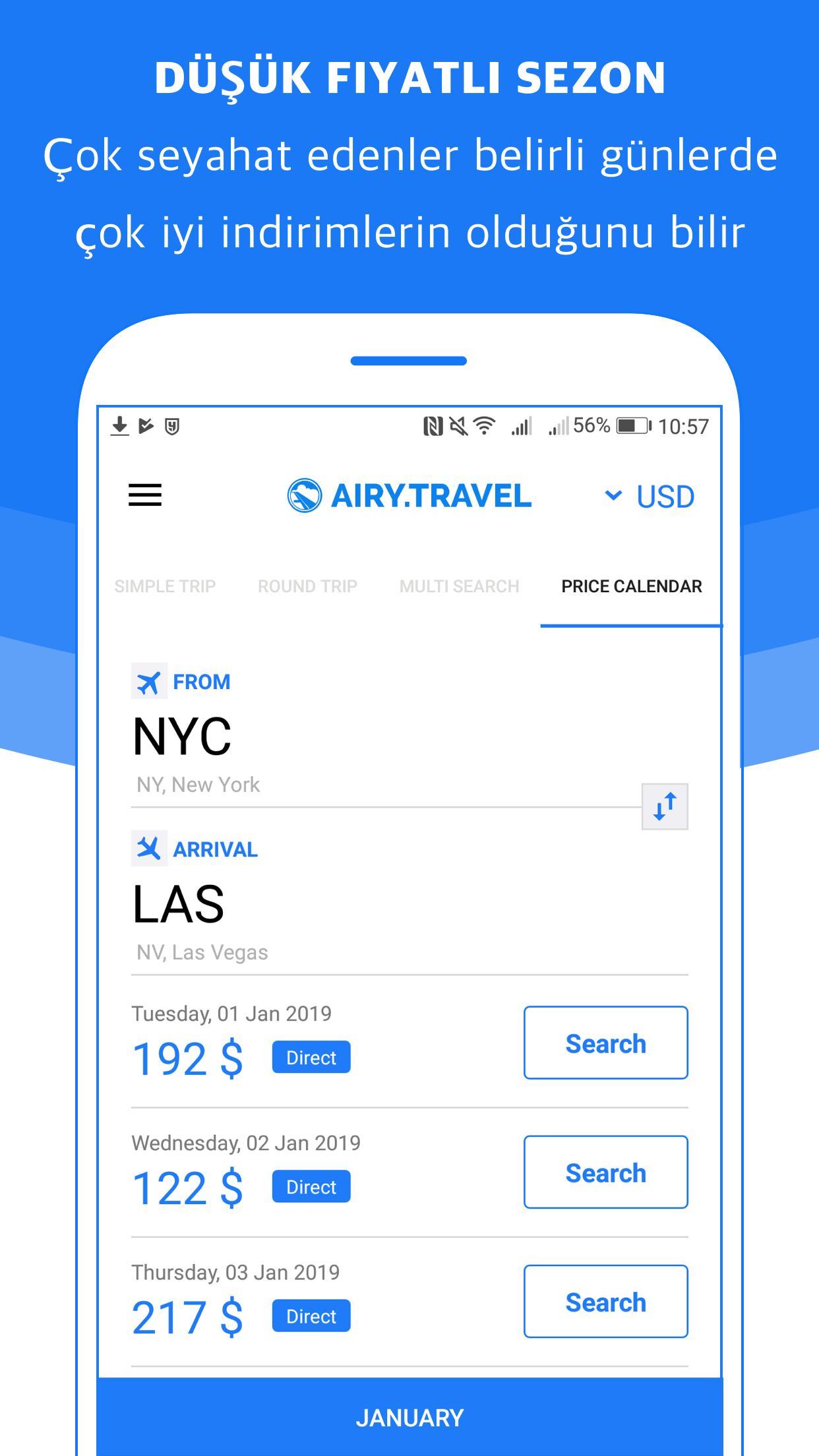 New York Fabrik authentisch neue auswahl Android için Ucuz Uçak Bileti Ara - Airy.Travel - APK'yı İndir