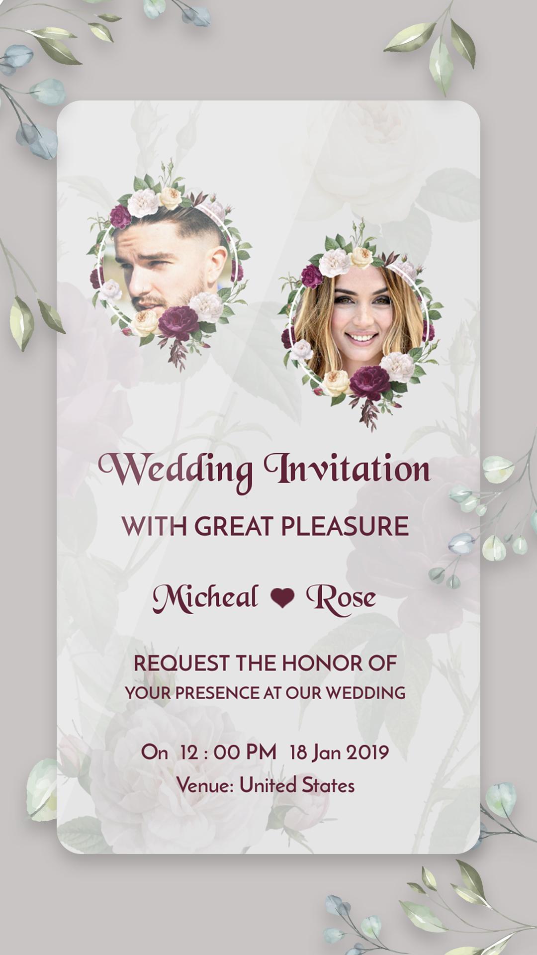 Wedding Card Maker: Digital Invitation Card Maker for Android - APK Download
