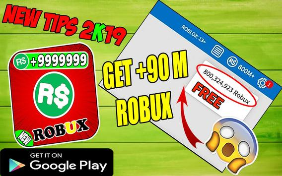 How To Get Free Robux - Robux Free Tips 2k19 poster
