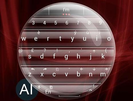 Theme for A.I.type Glass Red א screenshot 4