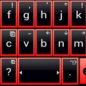 THEME AI TYPE BLACK RED GLASS icon