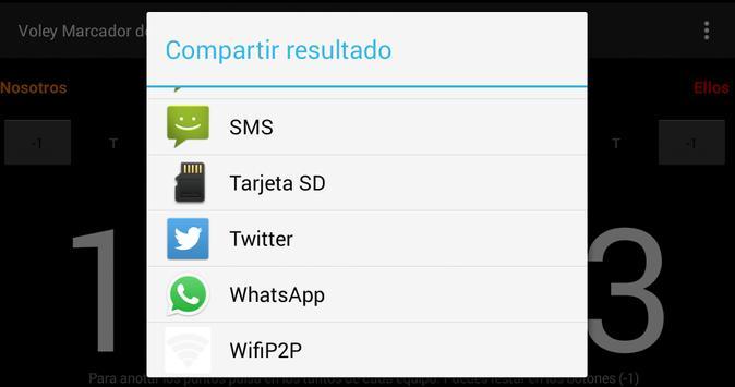 Voley Marcador screenshot 2