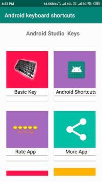 android studio keyboard shortcut keys poster