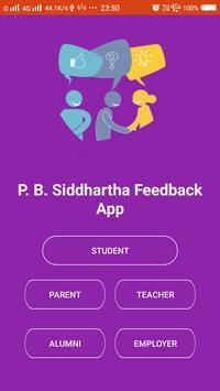 P. B. Siddhartha Feedback App poster