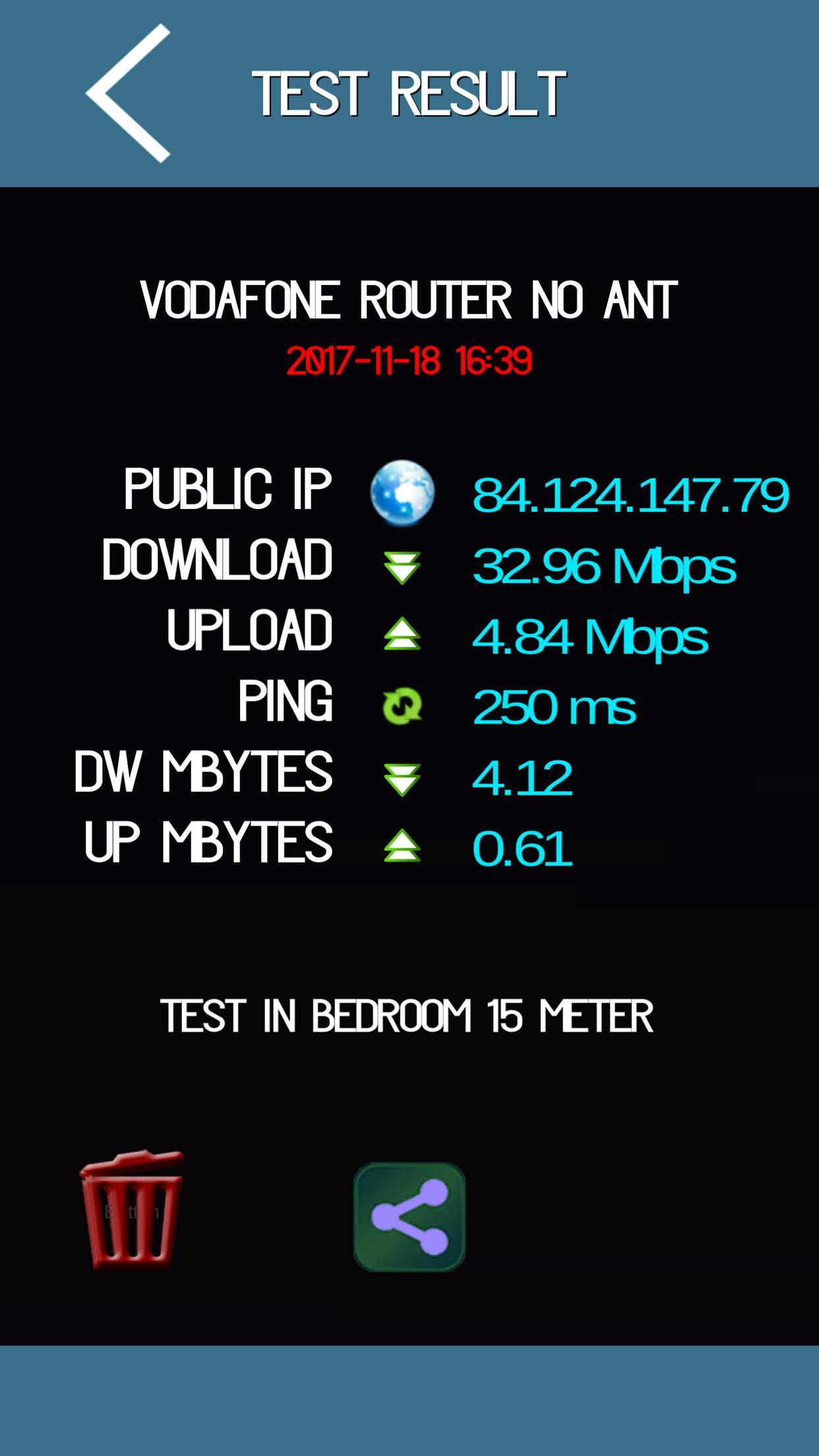 Internet wifi 3g 4g speed test IP and ping for Android - APK