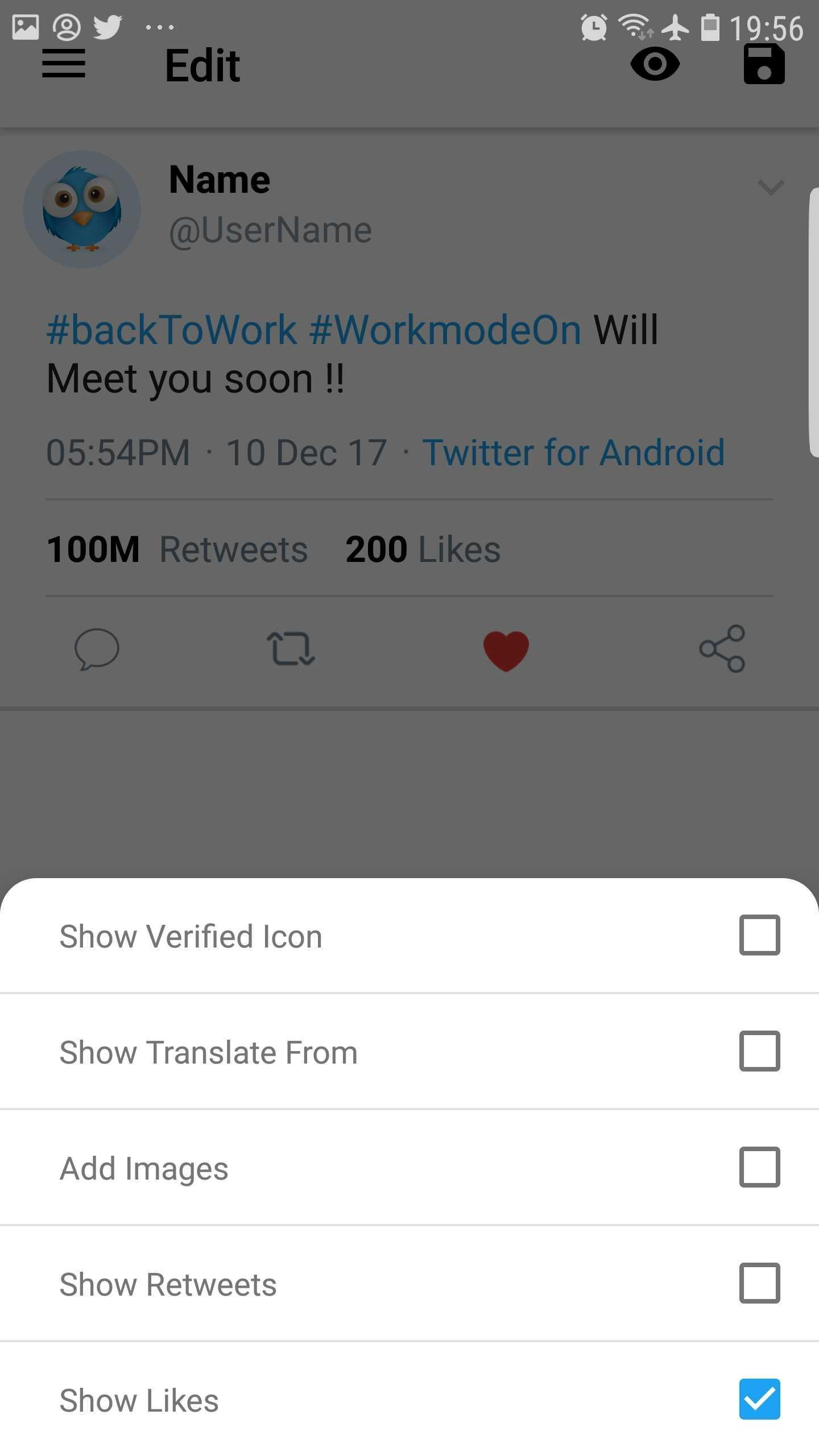 Fake Tweet - Photo Editor / Creator for Android - APK Download