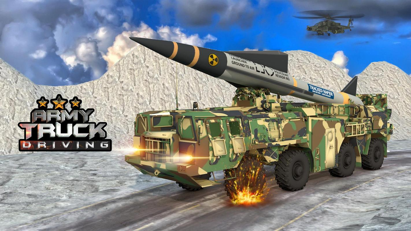 US Army Missile Attack : Army Truck Driving Games poster
