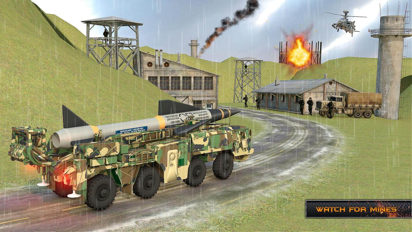US Army Missile Attack : Army Truck Driving Games screenshot 1
