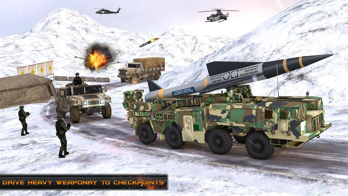 US Army Missile Attack : Army Truck Driving Games screenshot 3