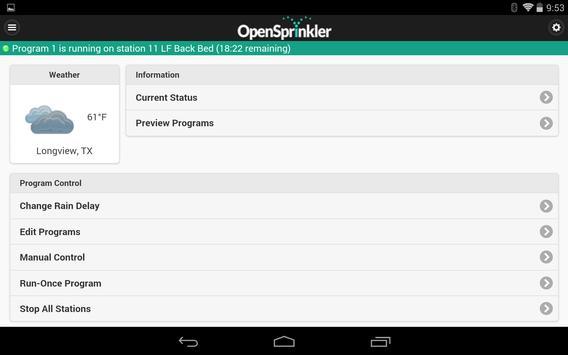 OpenSprinkler स्क्रीनशॉट 5