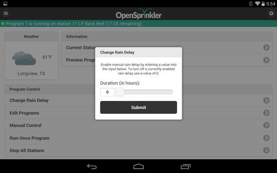 OpenSprinkler स्क्रीनशॉट 6