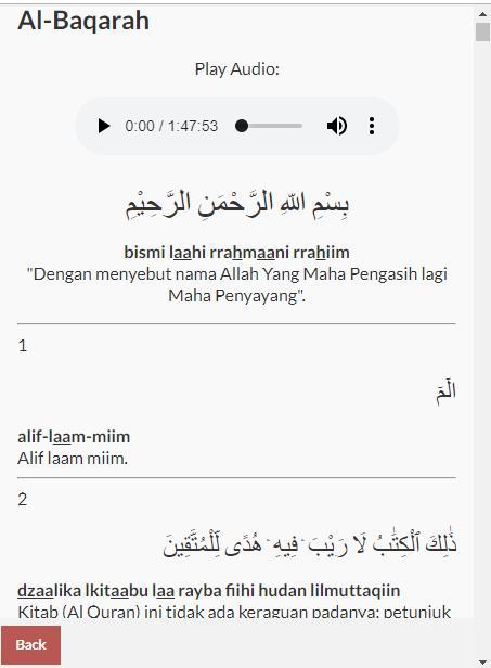 Surat Al Baqarah Dan Juz Amma For Android Apk Download