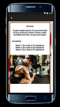 Diet to Get Fat, Diet to gain Weight screenshot 5