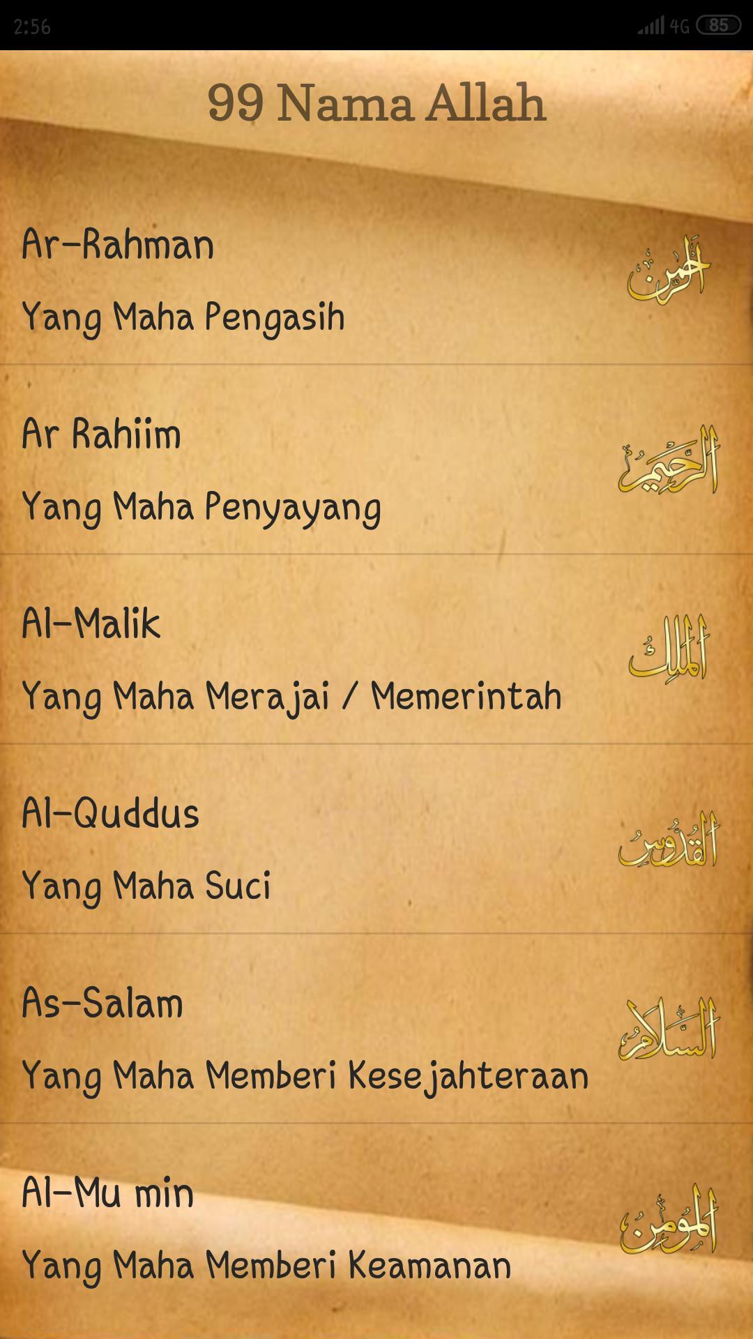 Asmaul Husna 99 Nama Allah For Android Apk Download