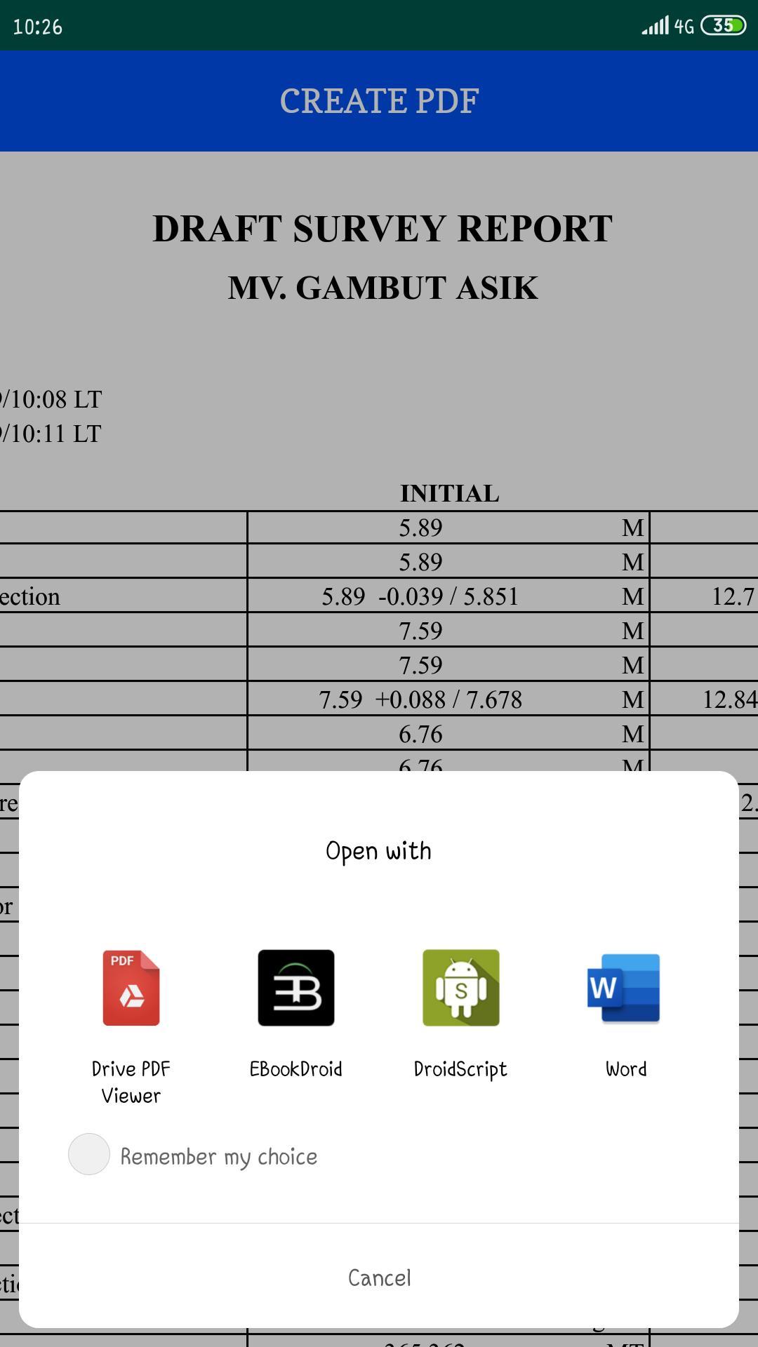 Marine Surveyor Calculator (Draft Survey) for Android - APK