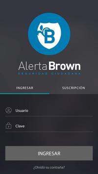 Alerta Brown poster