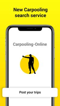 Carpooling-Online: travel companion search service poster