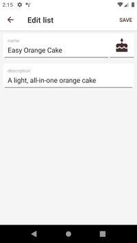 Orange Shopping List screenshot 3