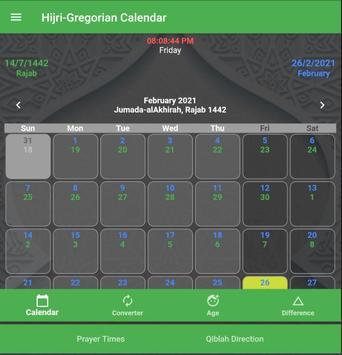 Hijri-Gregorian Calendar syot layar 16