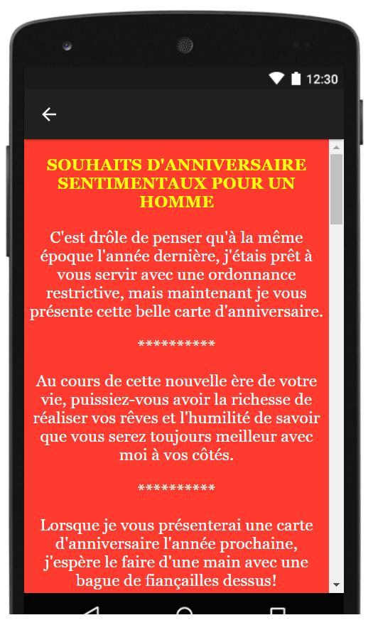 Joyeux Anniversaire Mon Amour Sms Texte Carte For Android Apk Download