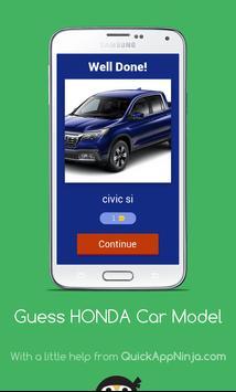 Guess HONDA Car Model screenshot 1