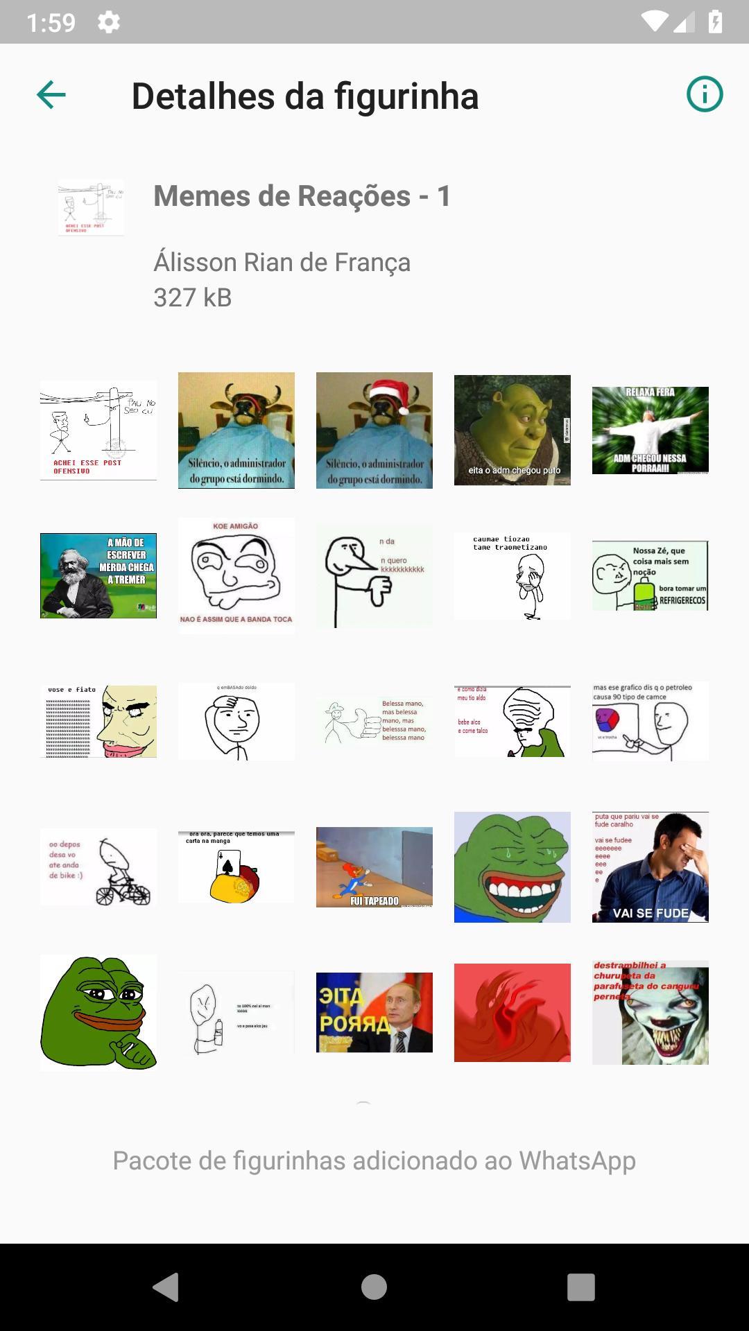 Memes De Reações Sticker Pack For Whatsapp For Android