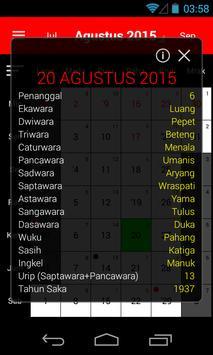 Kalender Bali poster