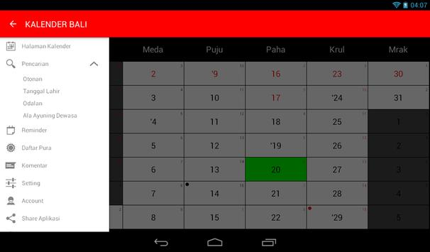 Kalender Bali screenshot 11