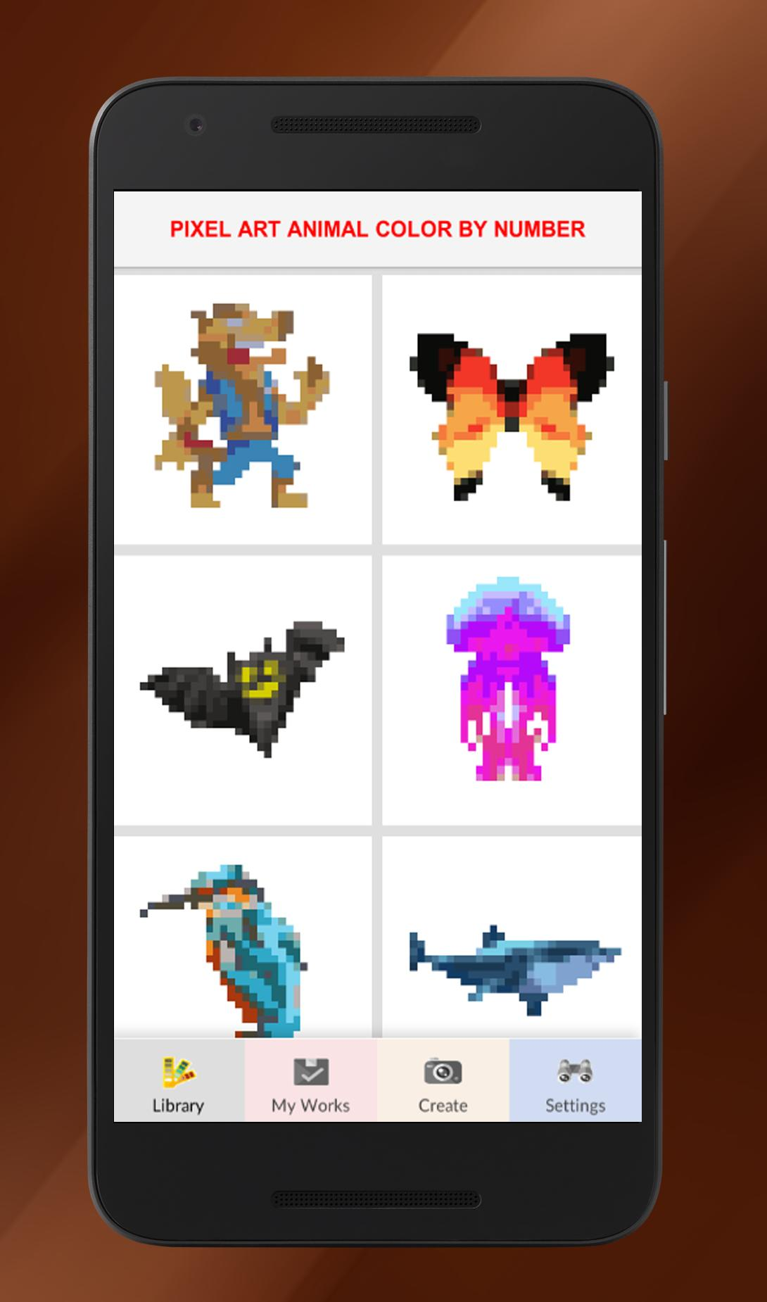 Pixel Art Animal Color By Number For Android Apk Download
