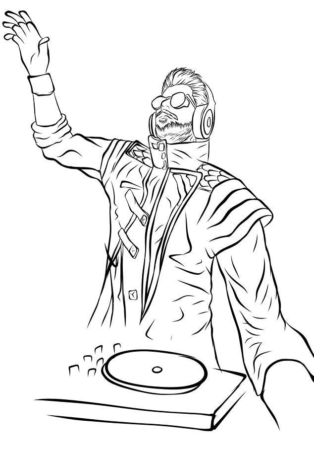 How To Draw Dj Alok Cartoon Sticker Coloring Book For Android Apk Download