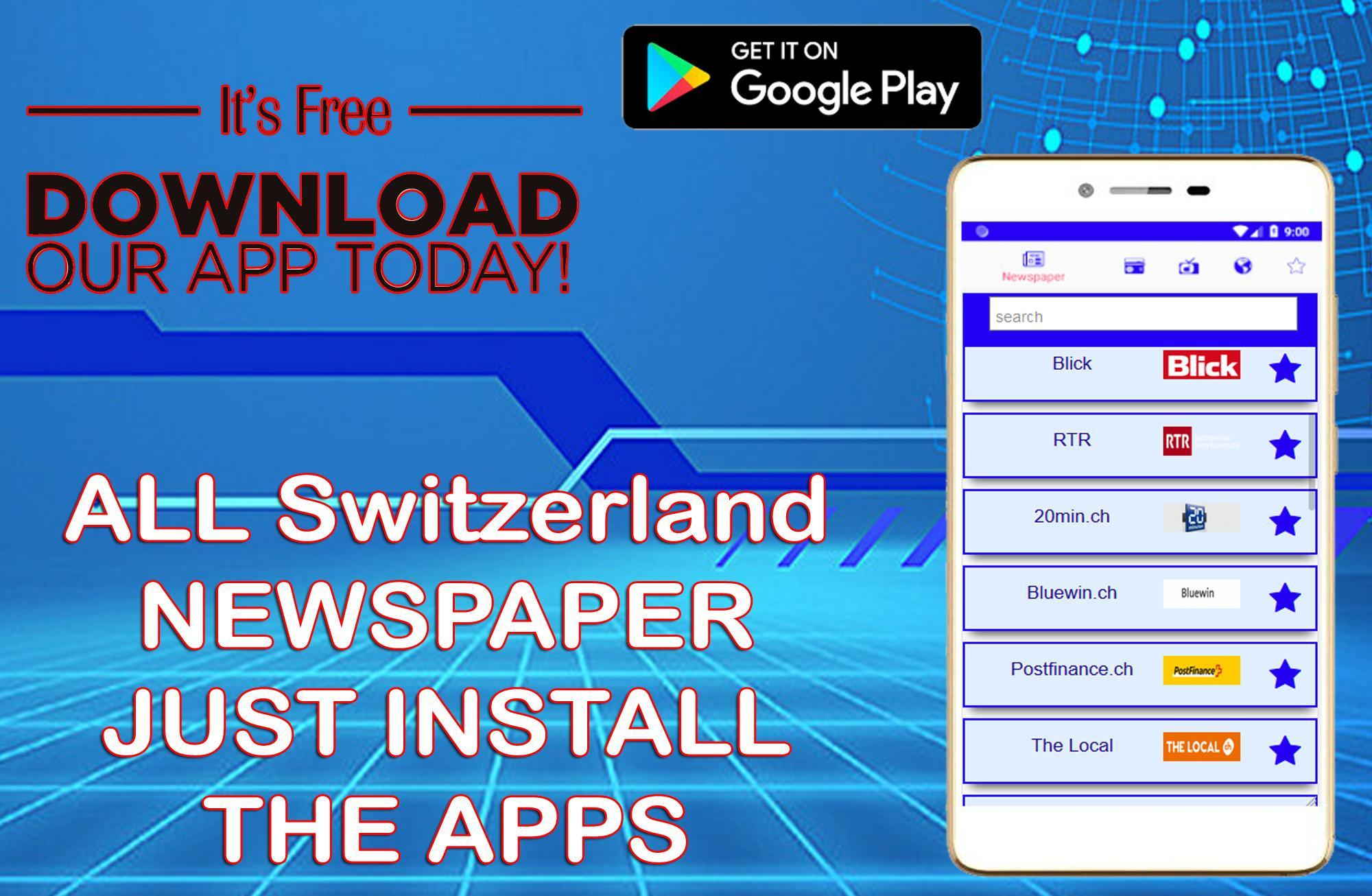 All Switzerland Newspapers Swiss News Radio Tv For Android