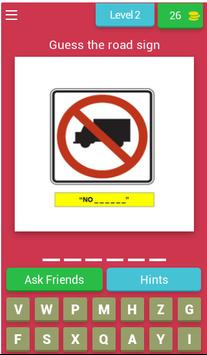 American Road Sign Quiz Game poster