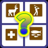 US Park Sign Quiz Game icon